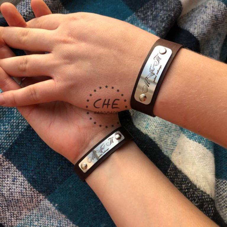 Che-handmade: Парные браслеты ручной работы с гравировкой